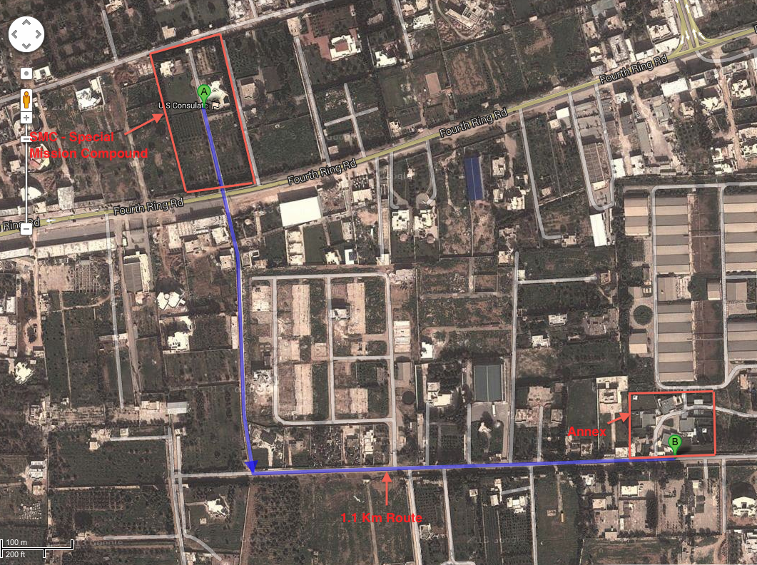 Benghazi Attack Timeline Passion For Liberty - Benghazi us consolate attack on google maps